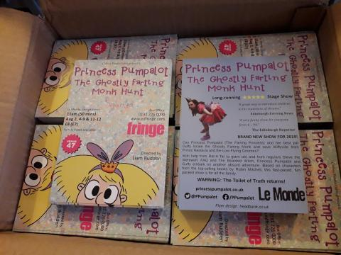 Box of Princess Pumpalot flyers