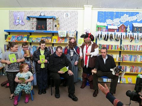 Princess Pumpalot at Gorebridge Library as part of National Libraries Day