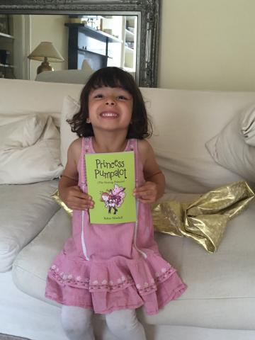 Jasmine with Princess Pumpalot book