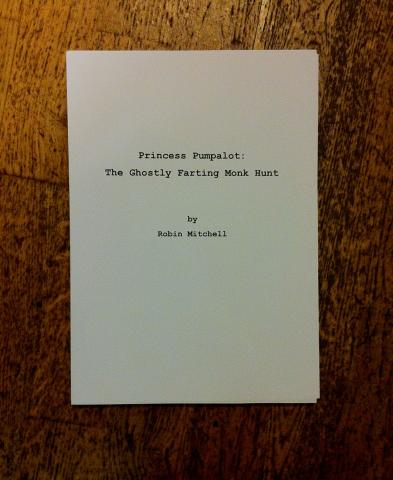 title page for Princess Pumpalot: The Ghostly Farting Monk Hunt