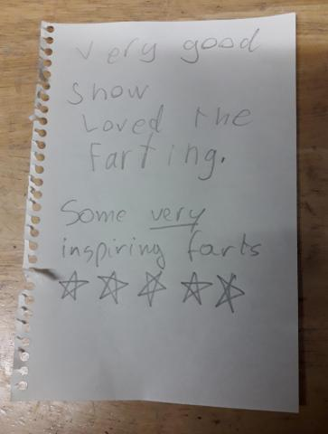 note handed to Gillian
