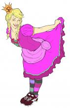 Princess Pumpalot drawing by Harley Stewart