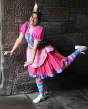 Julie in costime as Princess Pumpalot