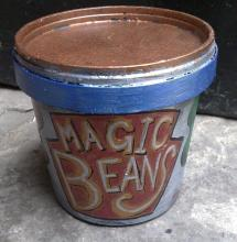Small tin of magic beans for Princess Pumpalot show