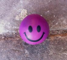 Purple ball smiley face