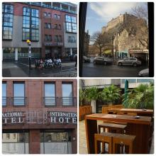 Four photo collage of Apex International Hotel