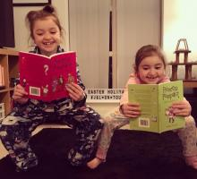 Two girls Two books