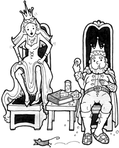 The King and Queen (with mouse)